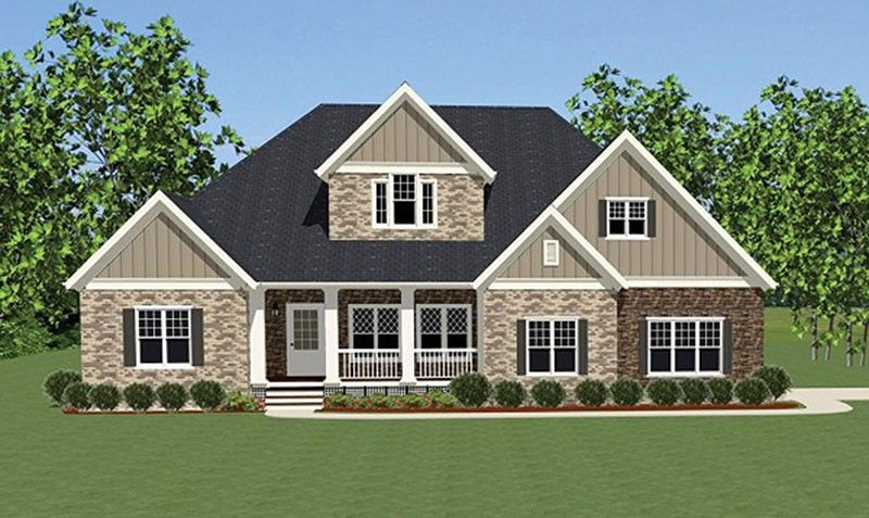 Cottage House Plan with 3565 Square Feet and 3 Bedrooms from Dream Home Source | House Plan Code DHSW077012