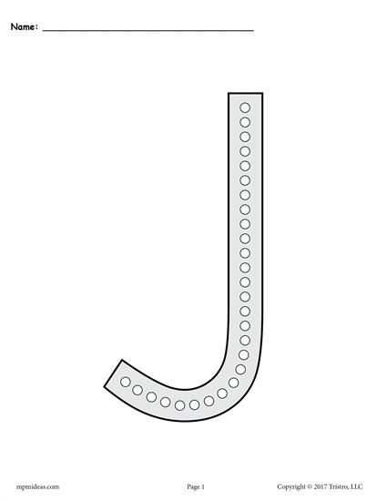 Free Letter J Q Tip Painting Printables Includes Uppercase And