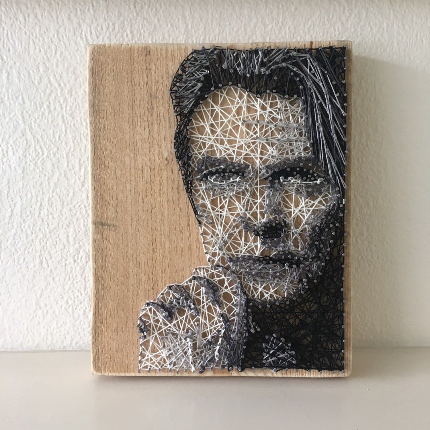 David Bowie String Art ritratto di StringsByAshley su Etsy | string ...