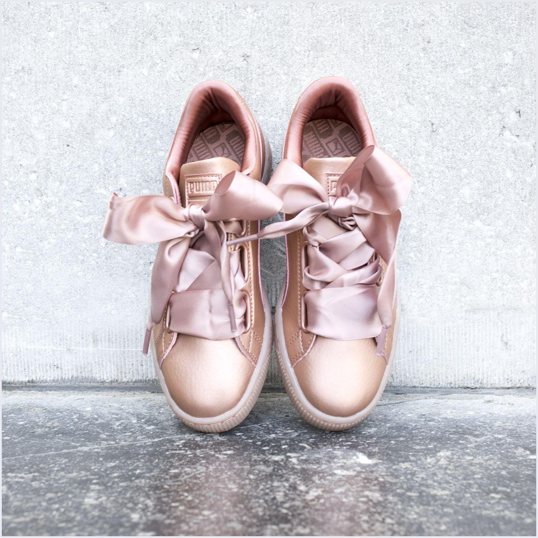 Roze PUMA Sneakers BASKET HEART NS DAMES | Schoenen, Gympen ...