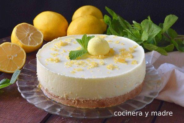 Tarta de yogur y limón sin horno