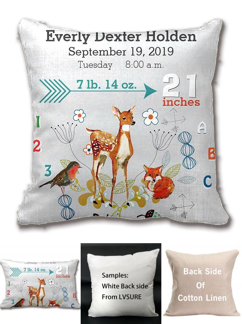 Visit to buy nursery baby birth stat fox arrow pattern throw pillow