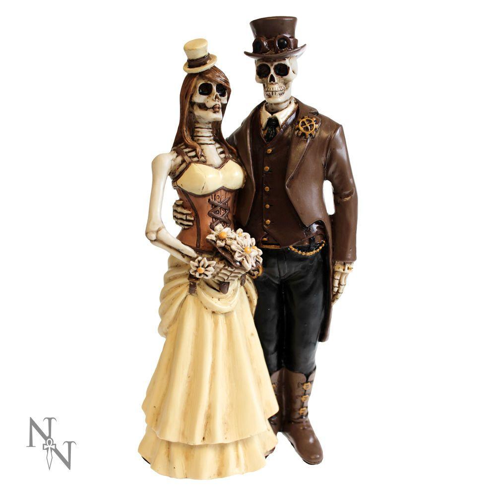 Details zu Hochzeitspaar Gothic Brautpaar Hochzeit Tortenfigur