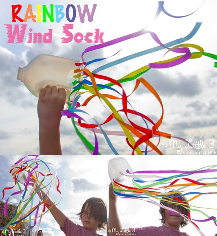 Rainbow Windsock Craft Windsock Craft Rainbow Crafts Rainbow Kids