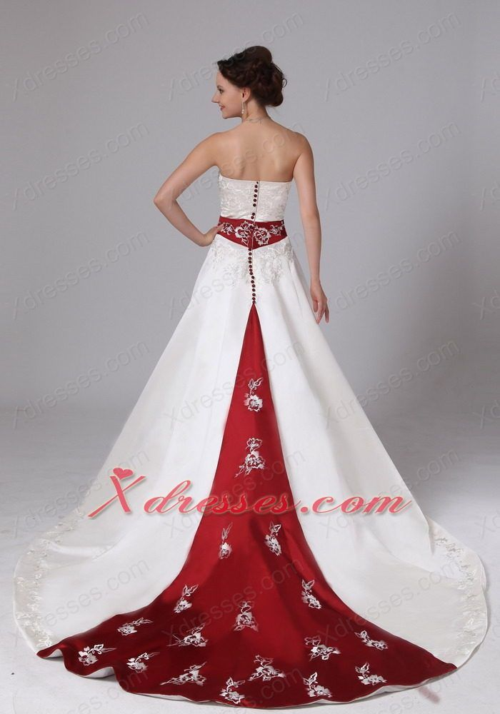 Wedding Dress Red Embroidery Google Search