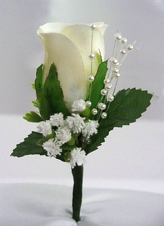 Ivory Boutonniere Rose Corsage Groom Boutonniere Wedding Etsy Corsage Wedding Boutonniere Wedding Corsage And Boutonniere