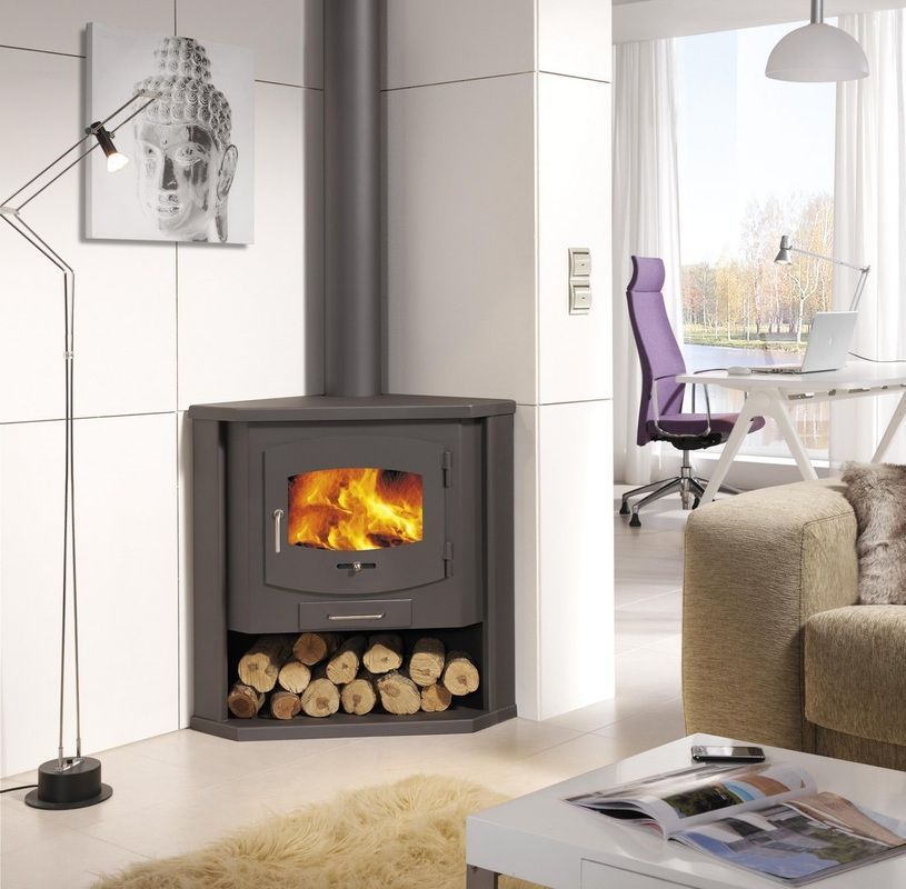Picture of Simplify Your Indoor Warming Stuff with Corner Wood Burning Stove  for Gorgeous Interior Nuance - Picture Of Simplify Your Indoor Warming Stuff With Corner Wood