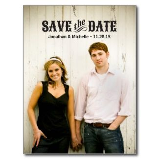 Rustic Western Save the Date Postcard