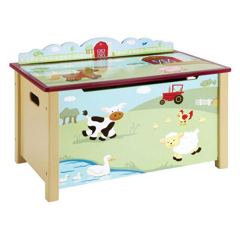 Guidecraft Farm Friends Toy Box G86704