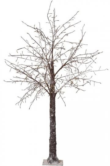 Martha Stewart Living™ Snowy Brown Lighted Stick Tree - Lighted