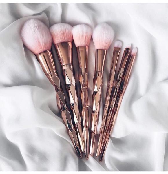 Luxe-Rose Gold Brush Makeup Brushes Set 7pcs