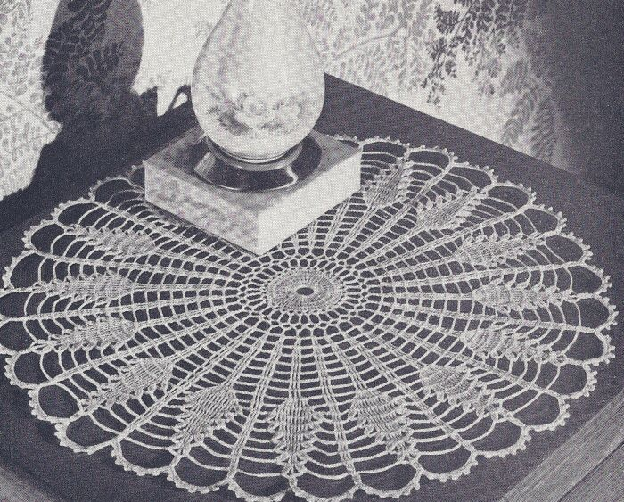 Vintage Crochet PATTERN Traditional Glory Doily Motif ConventionalGlory