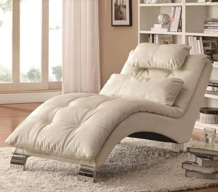 Casual and Contemporary Living Room Chaise in White