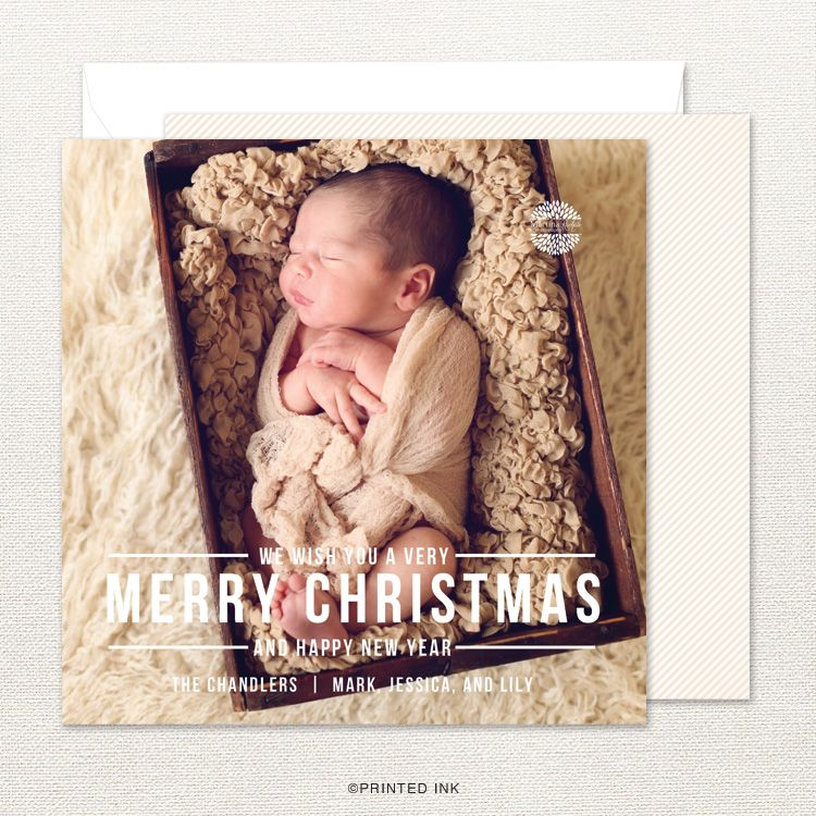 Send Holiday Cheer With A Modern Photo Christmas Card From