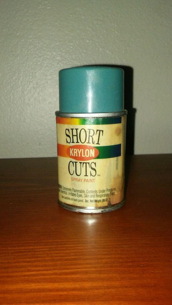 Vintag Krylon Short Cuts Spray Paint Can Paper Label SCS-043 Raintree  #Krylon