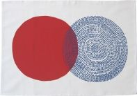 camp cirrus tea towel TILLSAMMANS red/blue. spring 2013.
