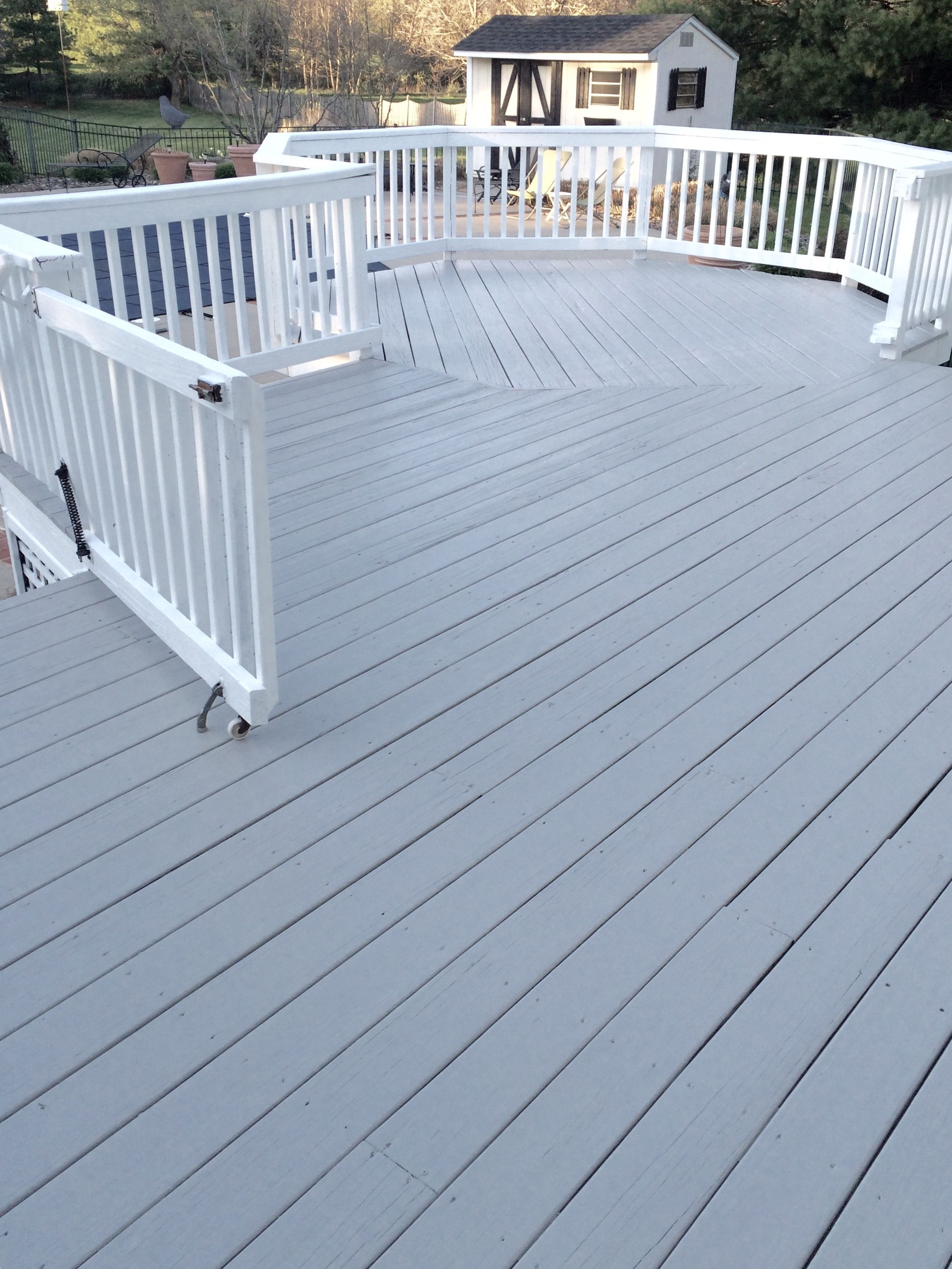 Cabot Seacoast Gray Solid Stain Love This Color It S On Our Deck And I Spent A Lot Of Time To Find The Right Not Too Bright In Sun Light