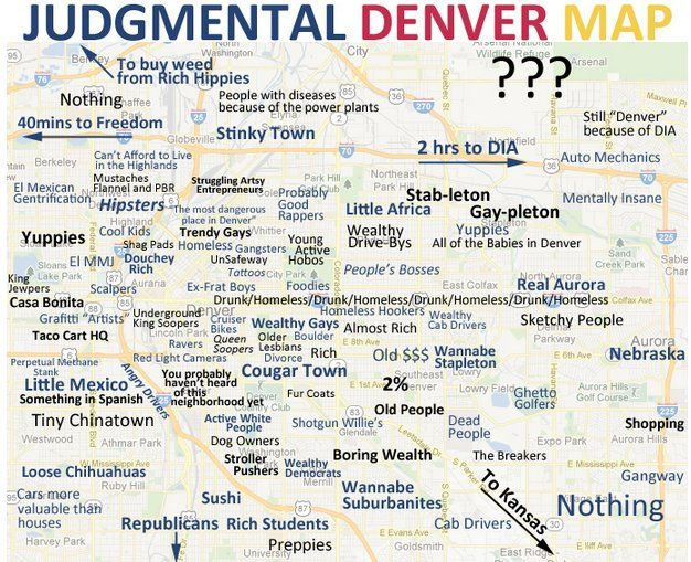 LOOK: Judgmental Denver Map Skewers Mile High City | CITYLIFE ...