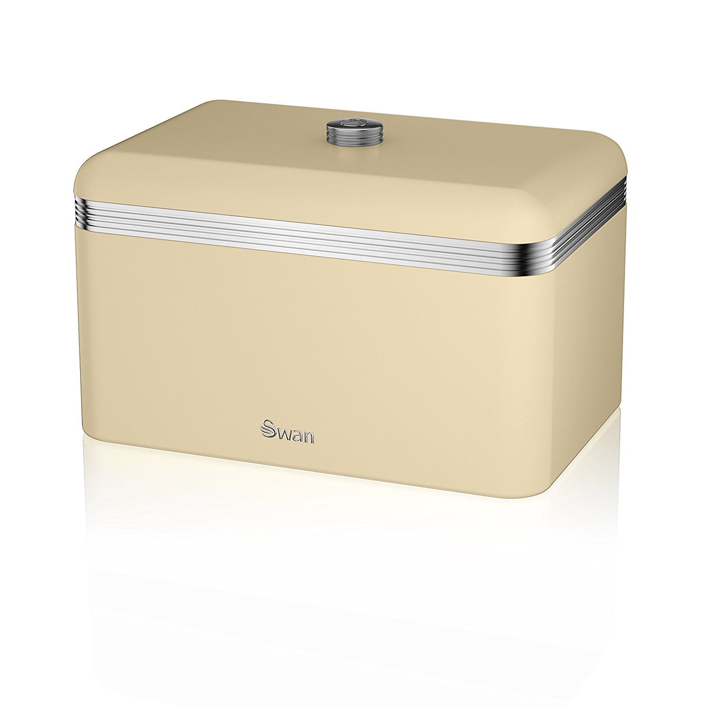 Kitchen Accessories Amazon Uk: Swan Products Retro Bread Bin, Blue: Amazon.co.uk: Kitchen