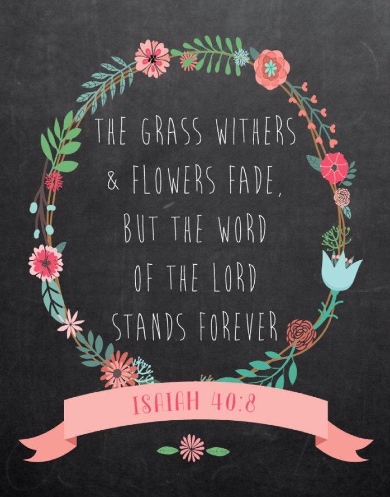 Isaiah 40 8