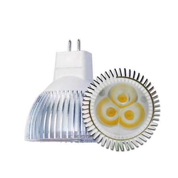 Foco Led 3 Watts 360 Lumenes MR16 GUX5.3 Alta Eficiencia Plus 120
