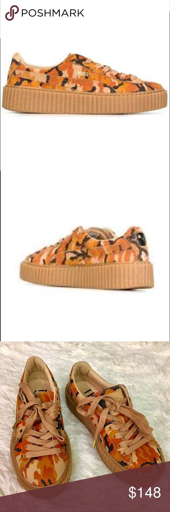 sports shoes 75f29 84765 FENTY X PUMA Rihanna Camouflage Creepers Sneakers Rihanna ...