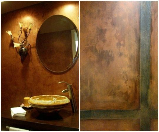 Wall Finish Ideas With The Metallic Color Copper Modern Masters Walls Modern Masters