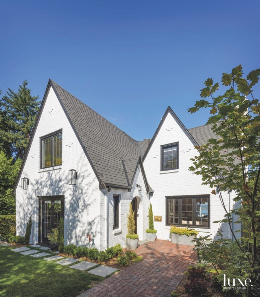 A seattle tudor revival receives a charming makeover - Tudor revival exterior paint colors ...
