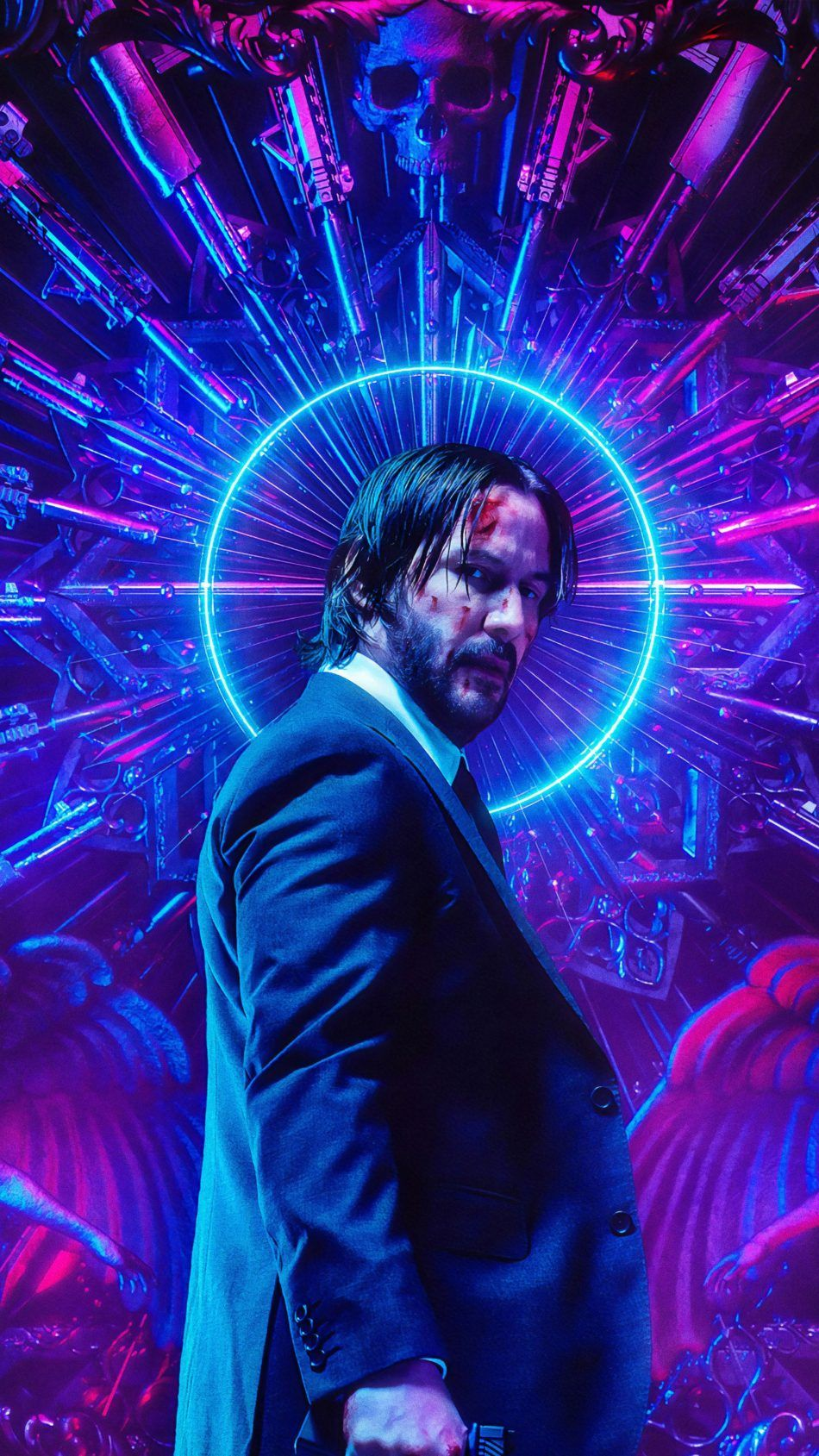 Download Keanu Reeves Neon John Wick Chapter 3 Parabellum Free