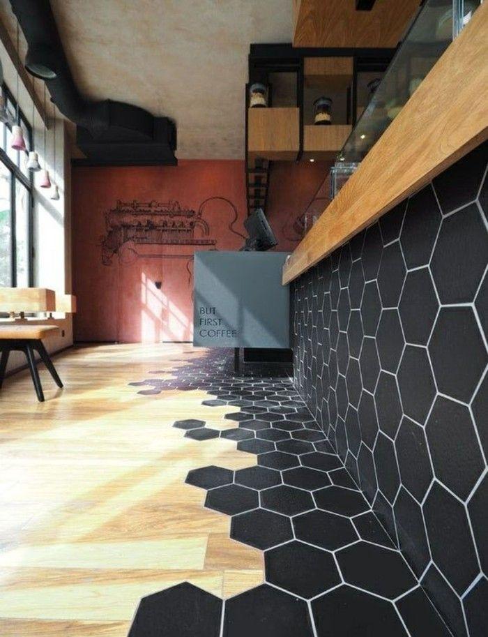 Schwarz Bodenbelag Ideen Und Designs #Design #dekor #dekoration #design  #Heimtextilien #