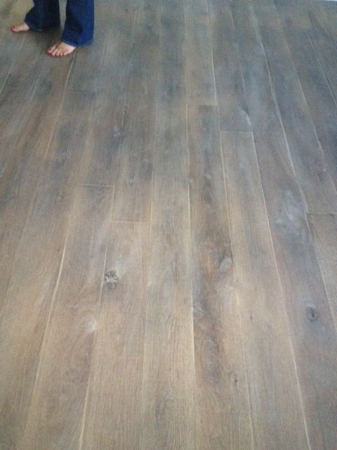 grey wood floors fumed rustic white oak floor is shaw hand scraped - Grey Hardwood Floors