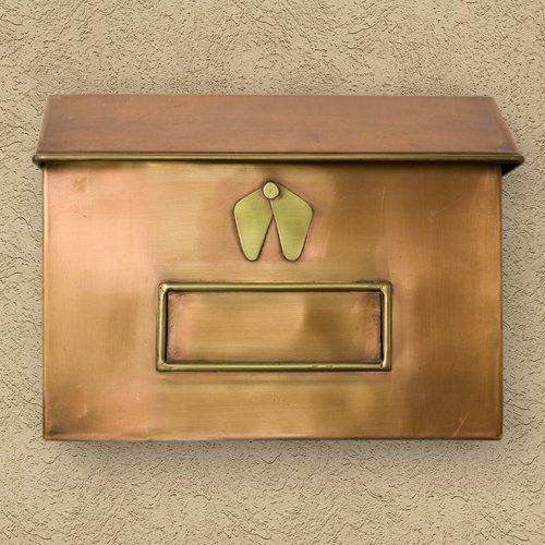 Brexton Horizontal Wall Mount Copper Mailbox Standard Antique Copper By Maycreek 148 95 A Beautiful Addition To Your H Copper Mailbox Copper Wall Copper Horizontal wall mount mailbox