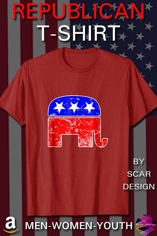 1a39eee8bd7 Republican party T-Shirt Elephant  Vote Shirt by Scar Design. This  Tee