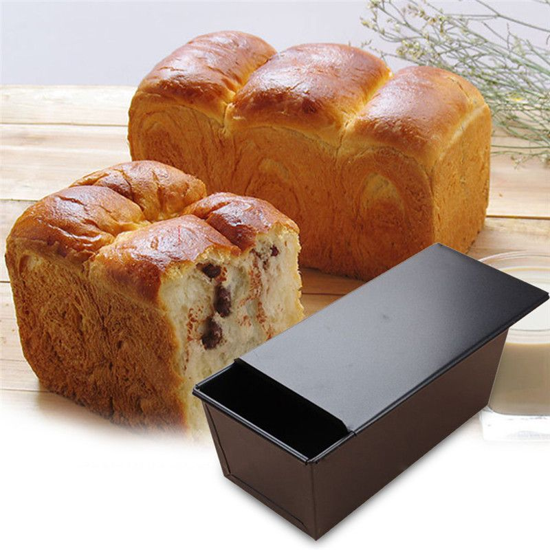 1pc Non Stick Square Iron Bread Mold Diy Cake Pan Baking Tools For