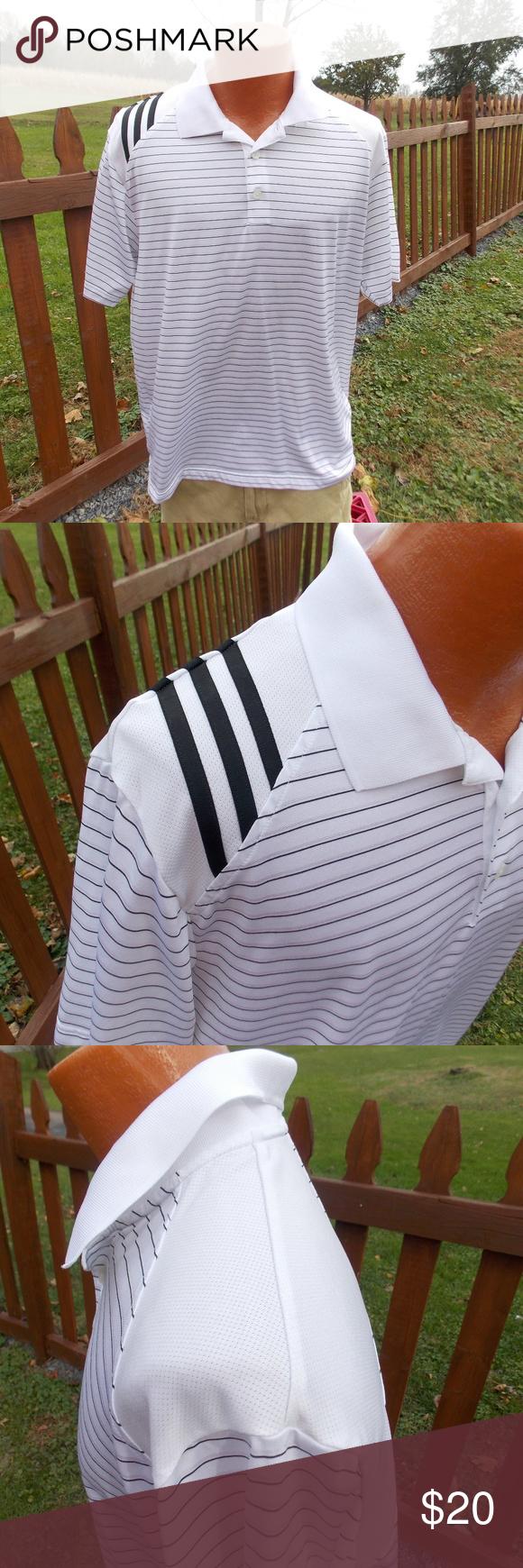 Adidas Clima Cool Mens Golf Polo Shirt Size Large Golf