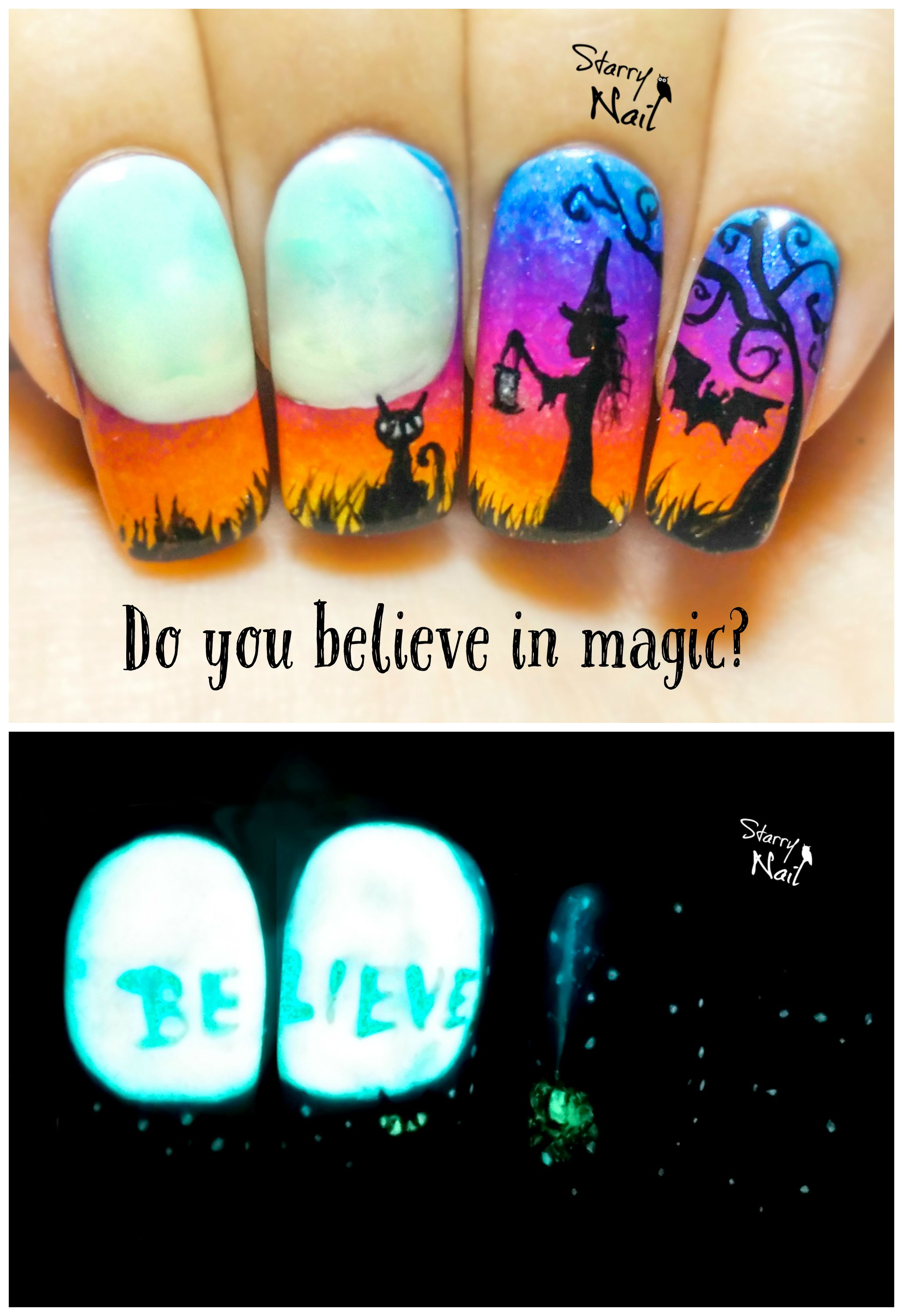 Do you believe in magic halloween witch glow in the dark do you believe in magic halloween witch glow in the dark freehand nail prinsesfo Image collections