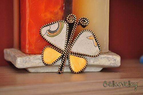 Zipper butterfly pendant | Galina Ruseva | Flickr