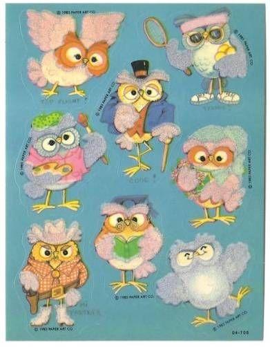 Mrs Grossman OWLS Photoessence Strip of Photo Quality Owl Prints/'