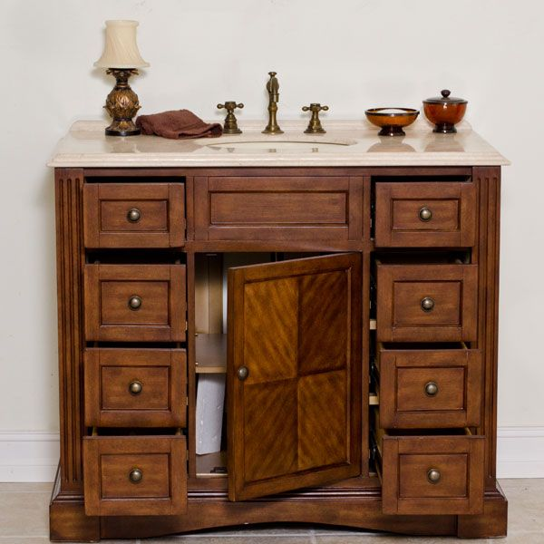 Marvelous 42 Inch Bathroom Vanity Cabinet Aber 42 Inches Stanton Traditional Bathroom Vanities Solid Oak Wood & Marvelous 42 Inch Bathroom Vanity Cabinet Aber 42 Inches Stanton ...