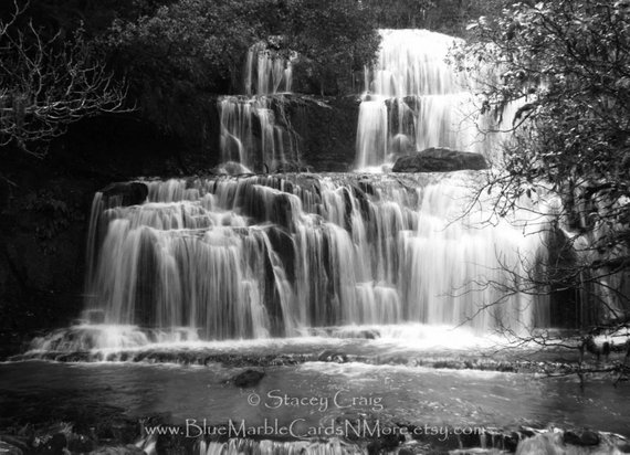 Waterfall Card New Zealand Friendship Happy Birthday Baptism