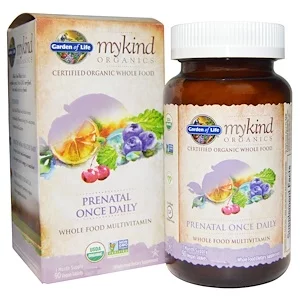 Garden of Life, MyKind Organics, Prenatal Once Daily, 90