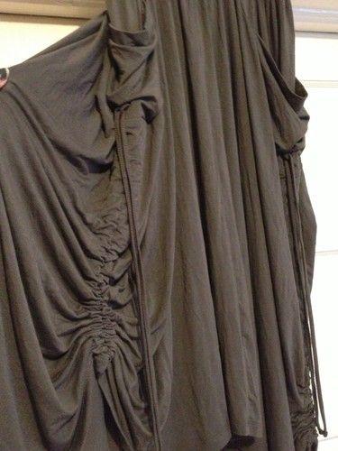 Comfy USA Modal Drape Asymmetrical Avant Garde Lagenlook Skirt Army Green M | eBay