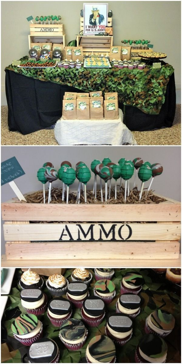 Army party ideas kids birthday for Army party decoration