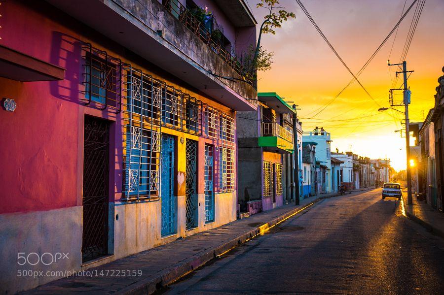 CAMAGUEY, CUBA Street view of UNESCO heritage city