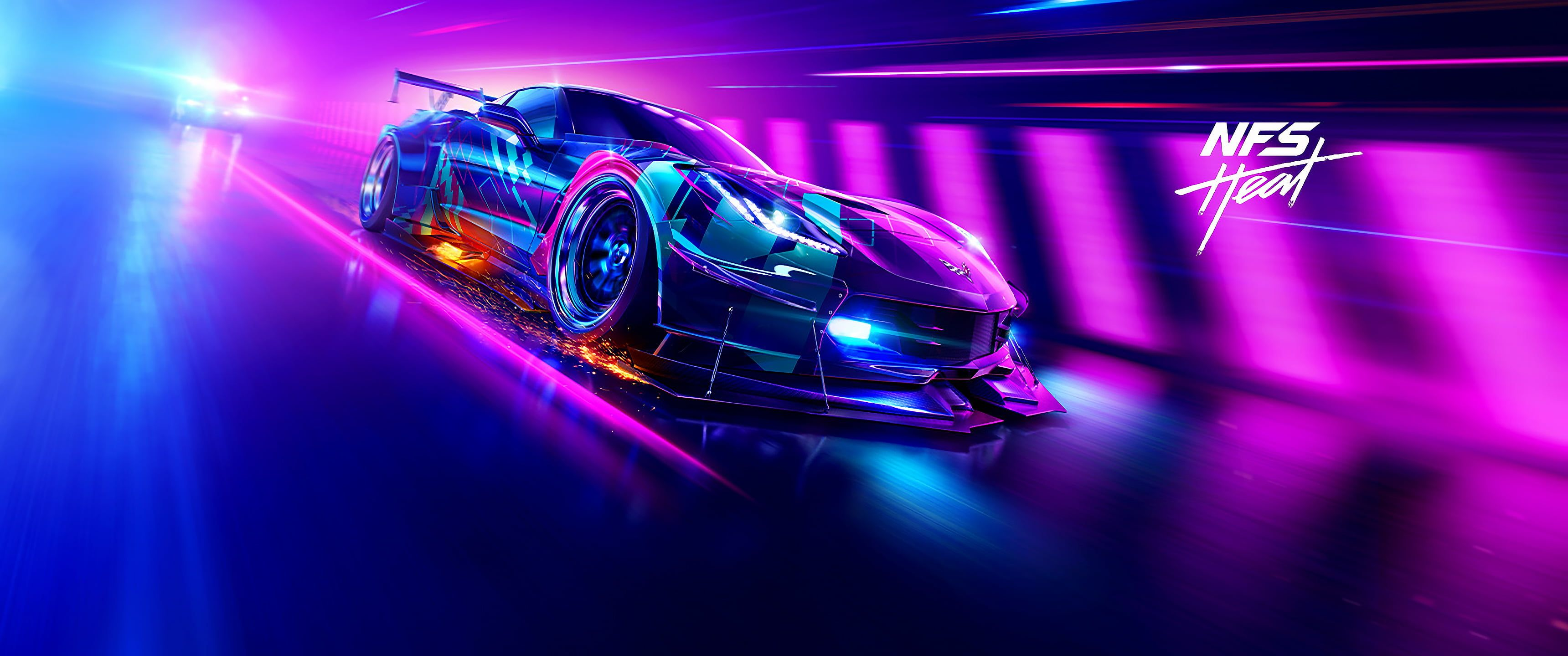 Video Games Video Game Art Ultrawide Ultra Wide Need For Speed Heat Car Corvette 2k Wallpaper Hdwallpap In 2020 Need For Speed Games Need For Speed Speed Games