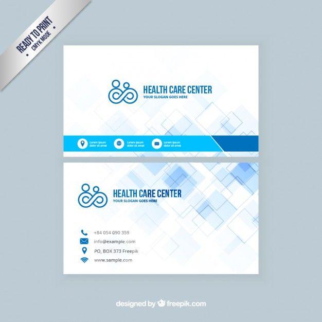 Tarjeta de visita de atenci n de salud Vector Gratis – Business Card Template for Doctors