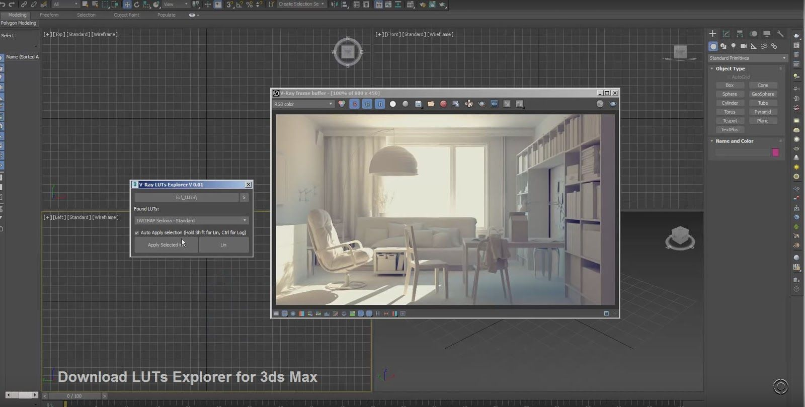 Download LUTs Explorer for 3ds Max - Plugins Reviews and Download
