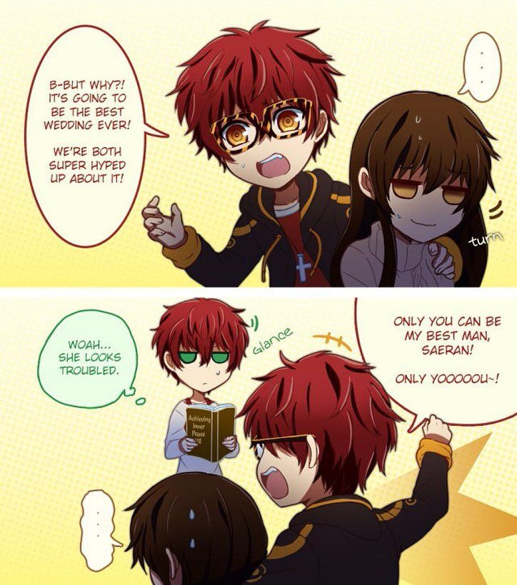 Part 3/8 #mysticmessenger #saeyoung #comic #tumblr #seven