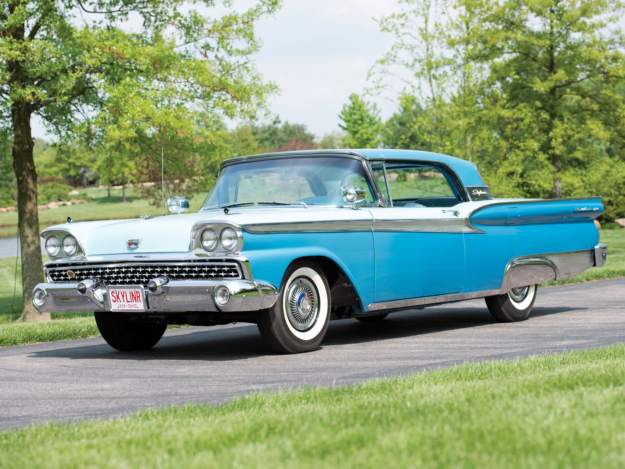 Motor company 1959 ford fairlane 500 skyliner retractable hardtop
