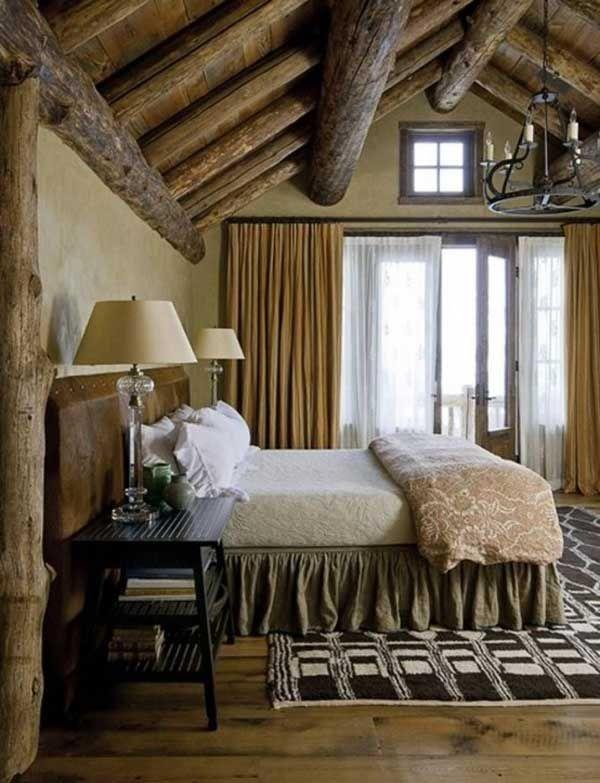 Fifty Extraordinary Rustic Log Home Bedroom Designs | Bedrooms ...